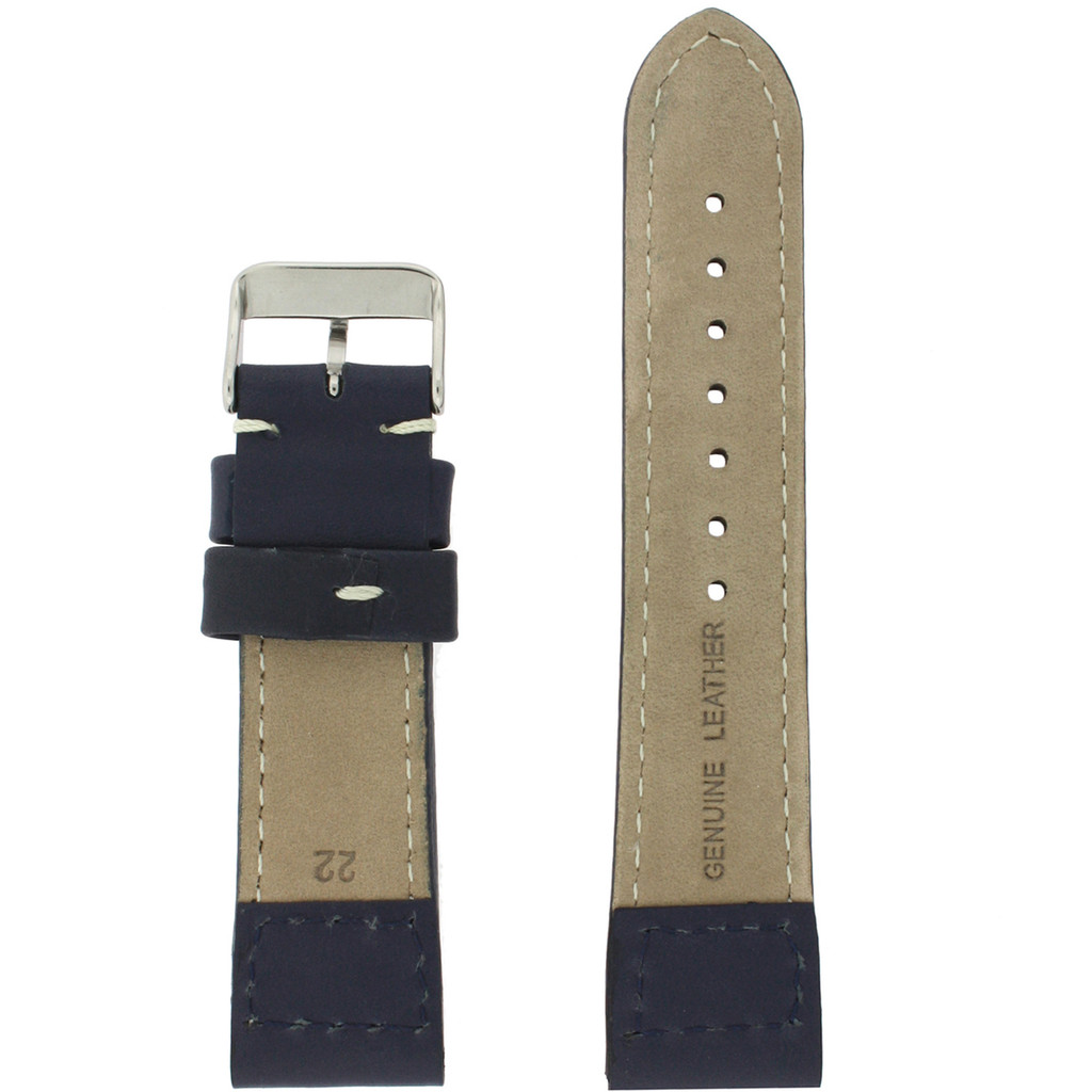 Navy Pilot Style Watch Band | TechSwiss Leather Straps | LEA1660 | Lining
