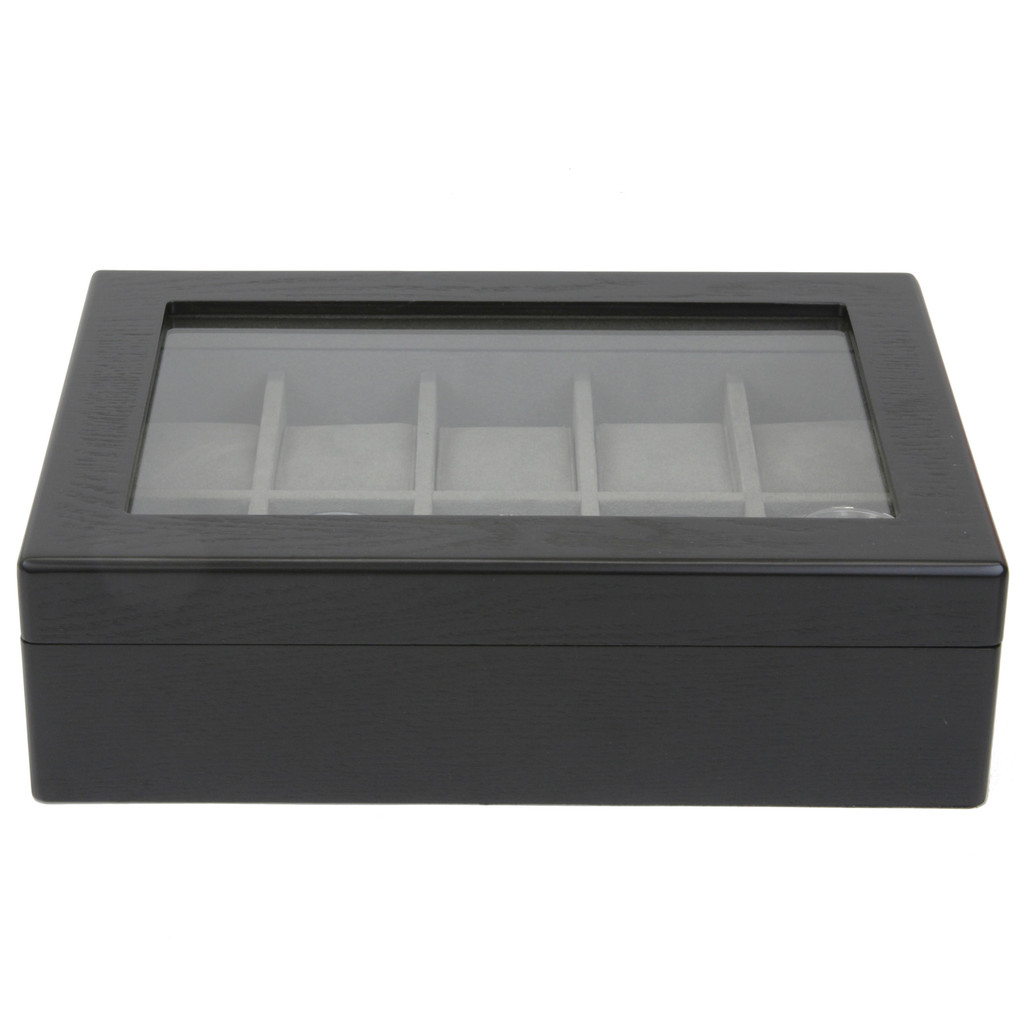 Watch Box For 10 Watches Closed TSBOX10ESSBK