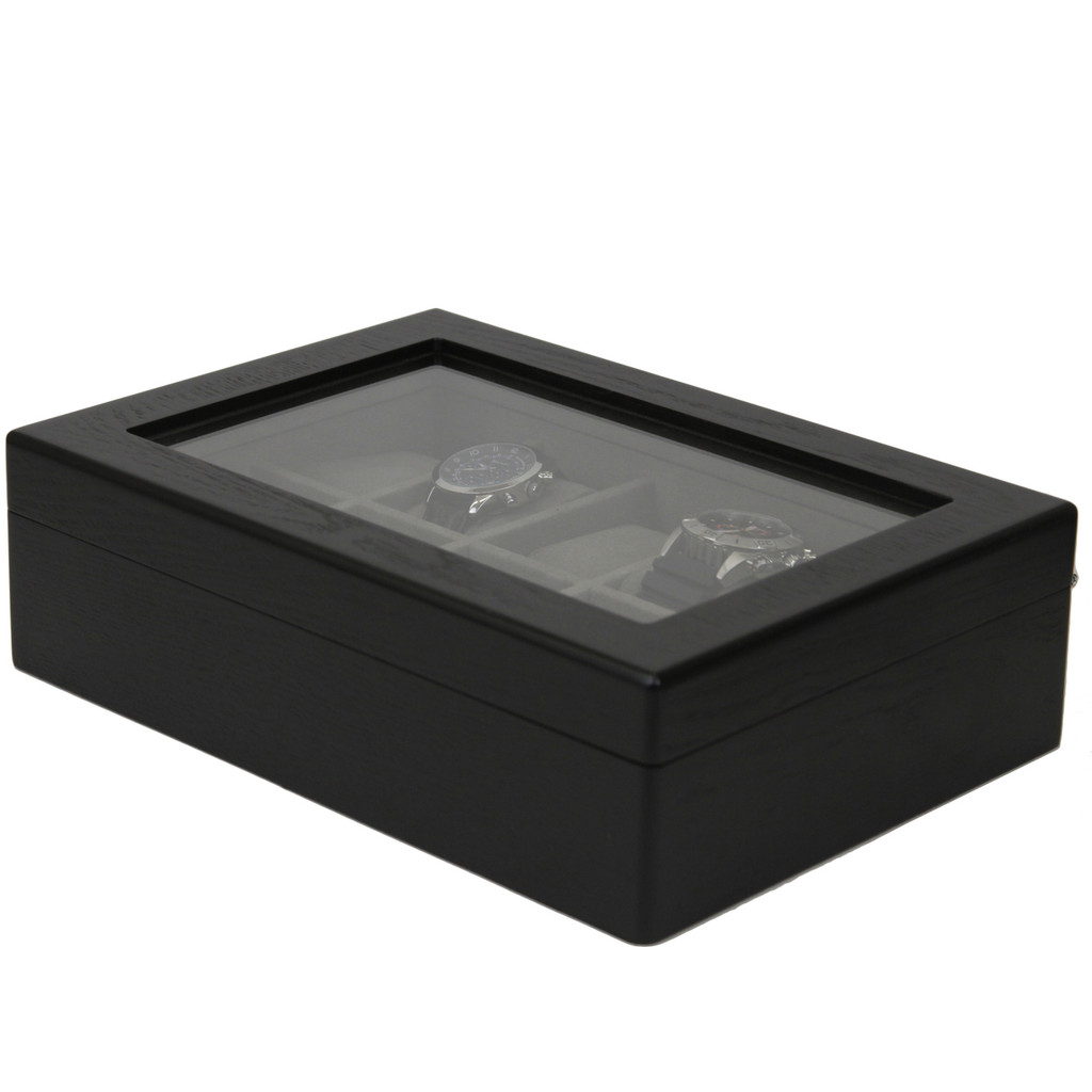 Watch Box For 10 Watches Side View TSBOX10ESSBK