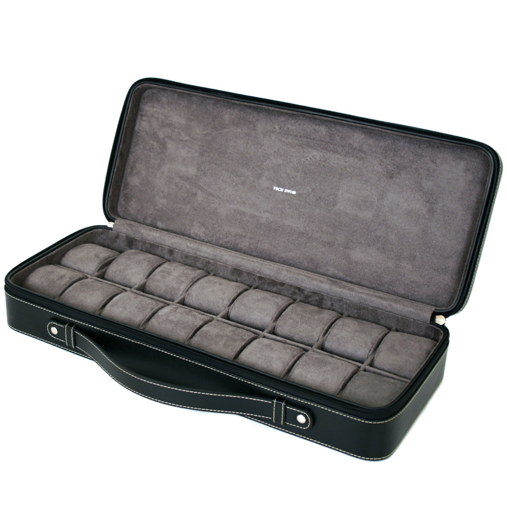Briefcase style watch case - Open View
