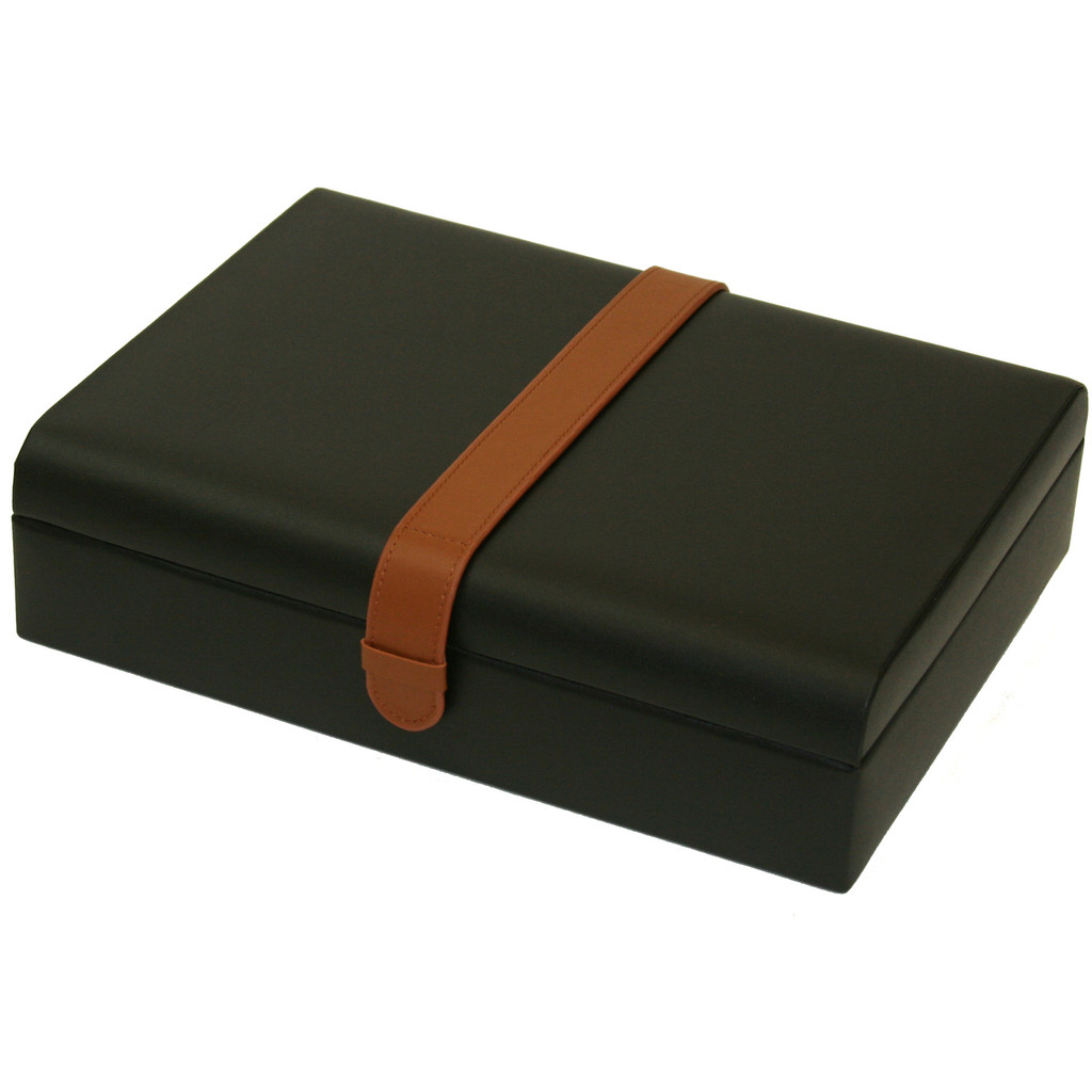 Valet Leather Watches Jewelry Glasses Box (TS7180) closed angle picture