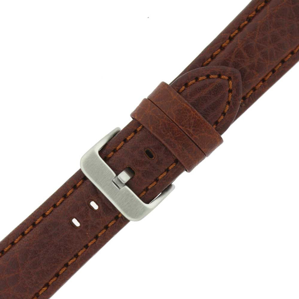 Brown Leather Watch Band | TechSwiss LEA1620 | Buckle