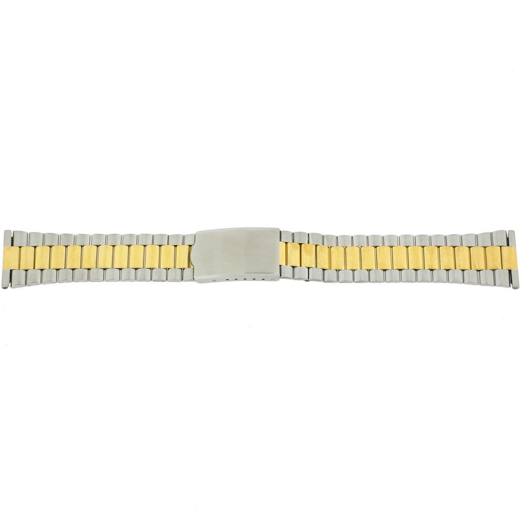 Oyster Style Link Metal 2-Tone Stainless Steel Watch Band