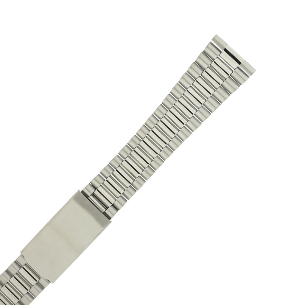 Stainless Steel Oyster Style Metal Watch Band