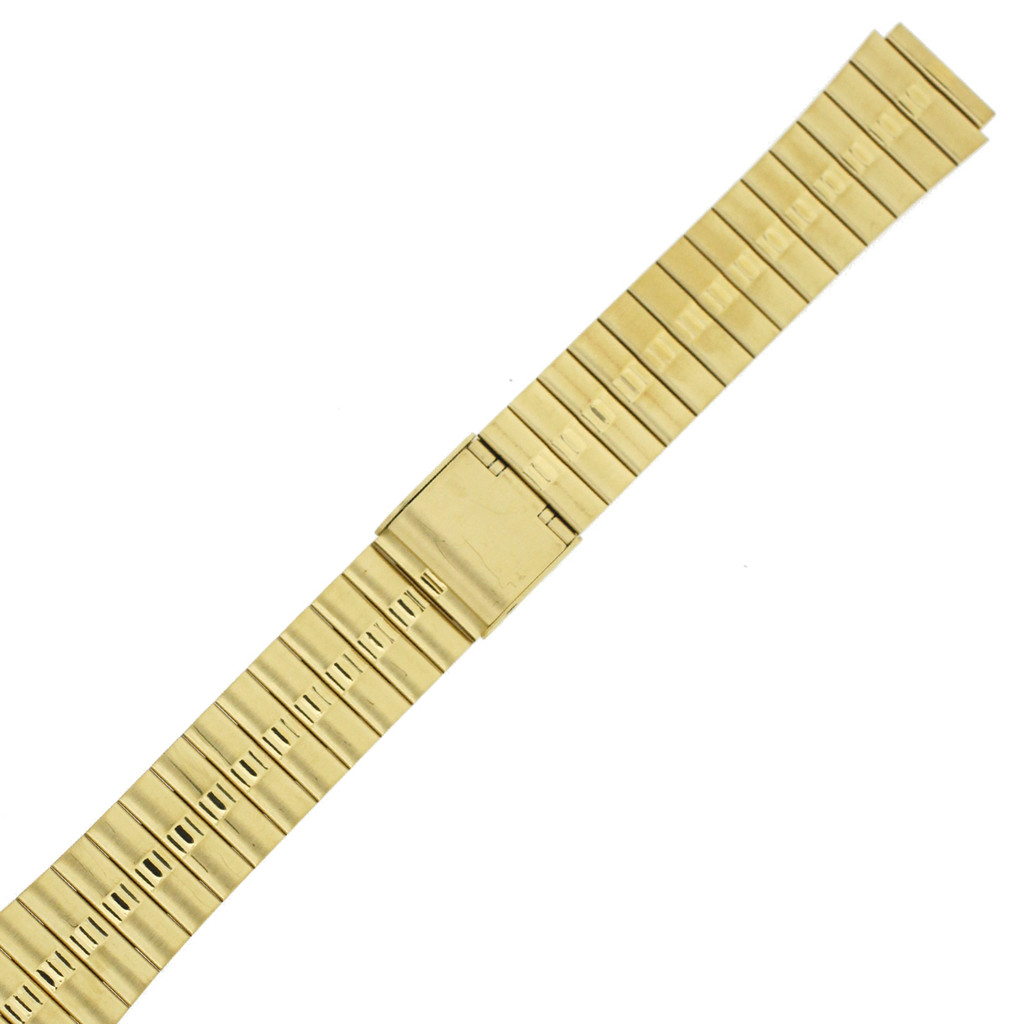 Stainless Steel with Gold-Tone Watch Band