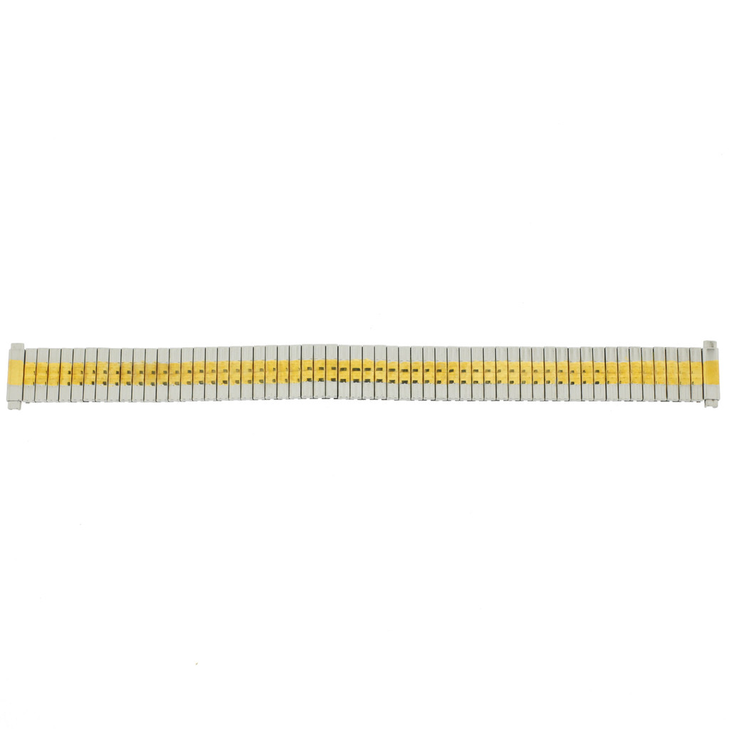Expansion Metal Watch Band in Stretch Two-Tone Ladies