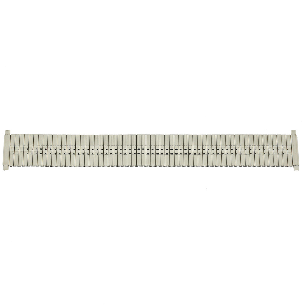 Watch Band Expansion Metal Stretch Silver Color Thin Line fits 17-21mm