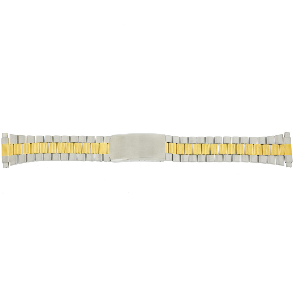 Watch Band Link Metal 2-Tone Spring Ends 17mm-22mm