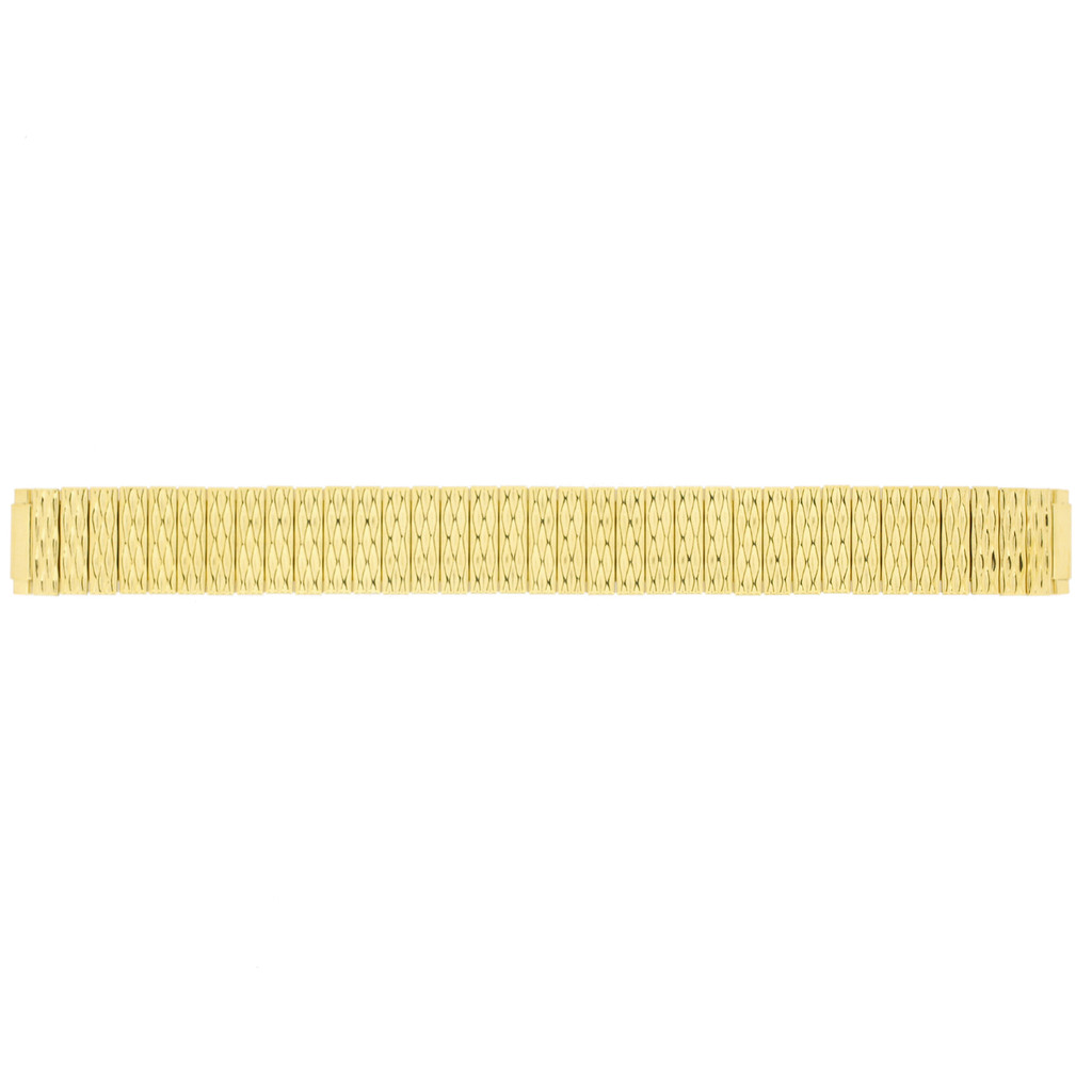 Watch Band Expanion Ladies Gold Plated fits 10mm to 14mm