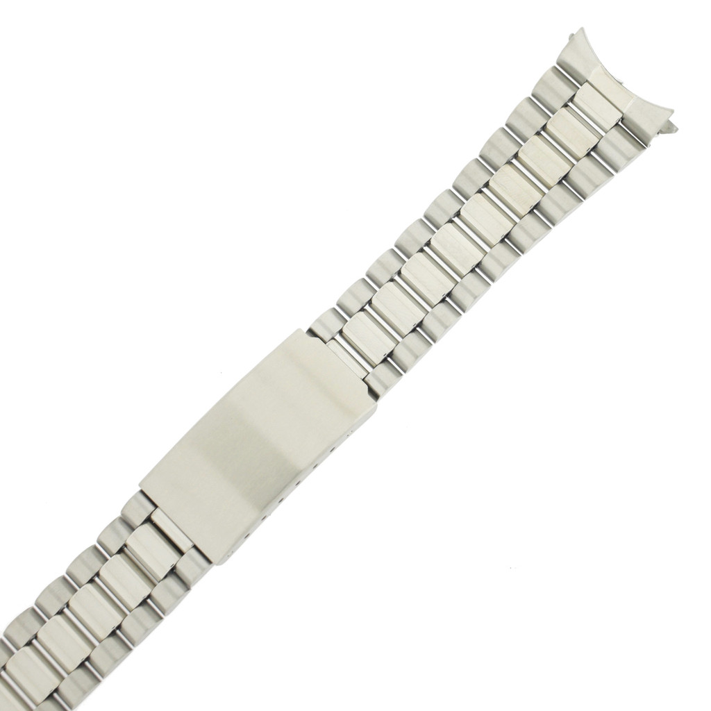 Watch Band Stainless Steel Matte Finish Curved Ends