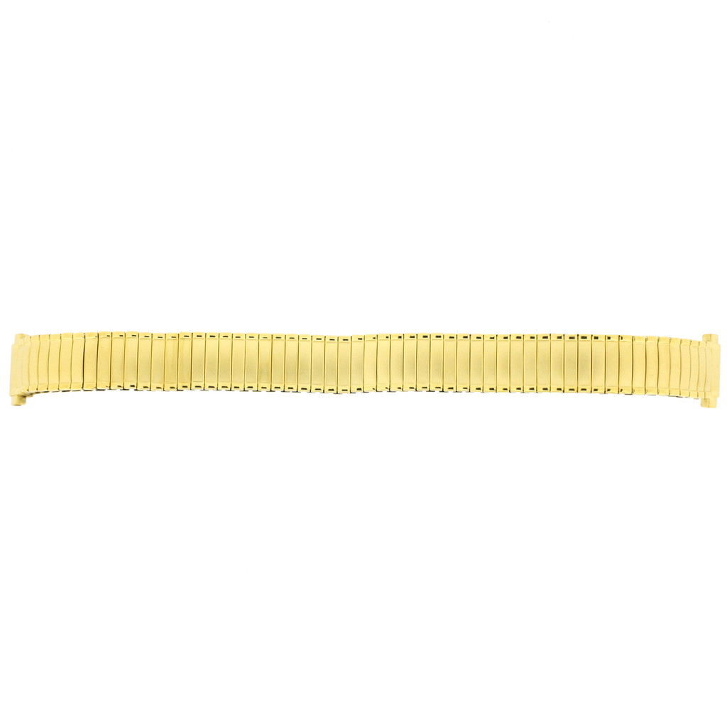 Ladies Watch Band Expansion Stretch Strap - Gold Plated fits 12mm to 14mm