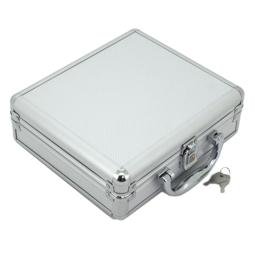 Aluminum Watch Case - 8 Watch Box - TechSwiss - TSBOXAL8 - Standing View