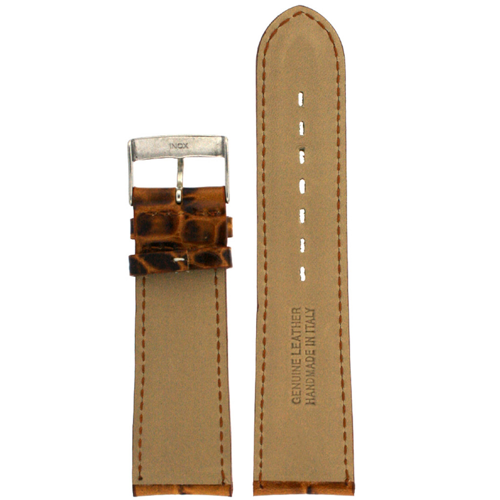 Mens Brown Leather Watch Band LEA1364