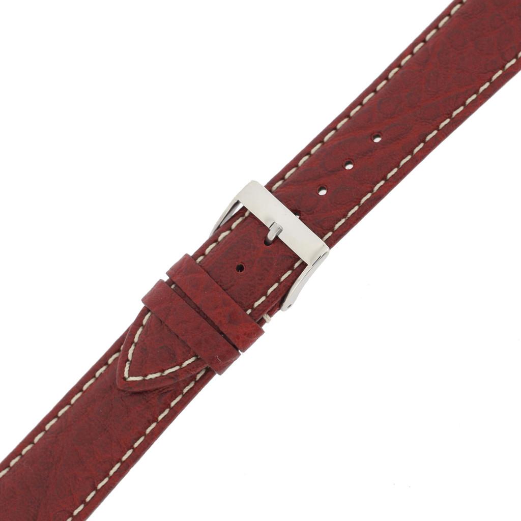 Mens Watch Band Waterproof Leather Red TSA458