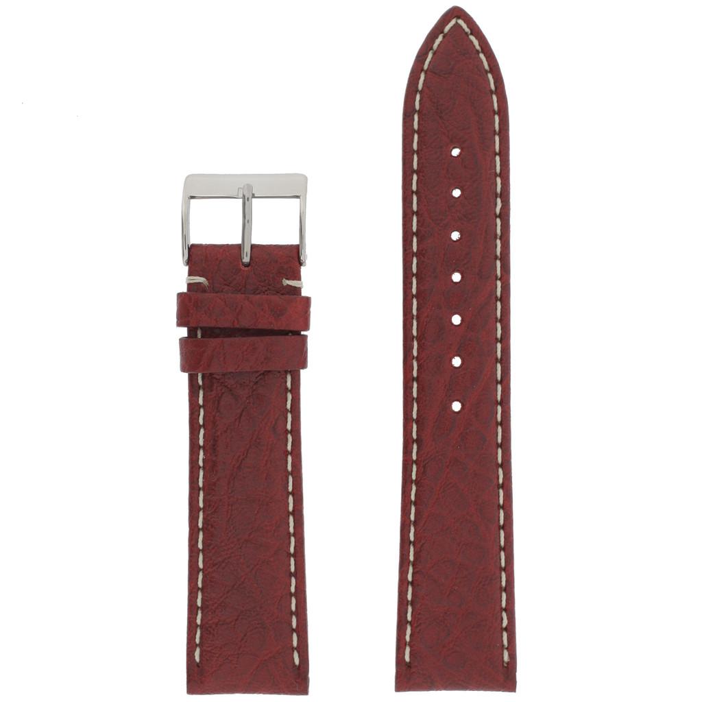 Watch Band Waterproof Leather Red TSA458