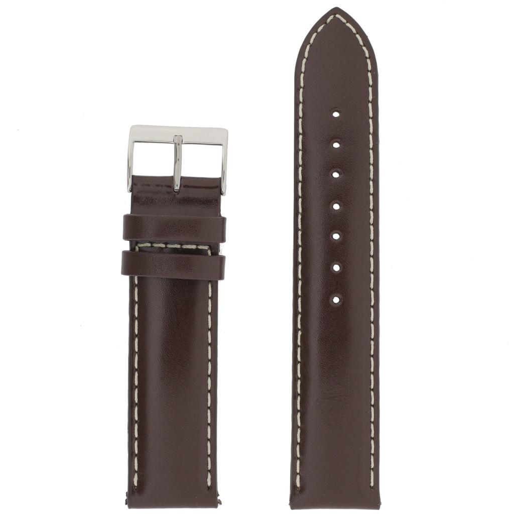 Water Resistant Brown Mens Watch Band Waterproof LEA477