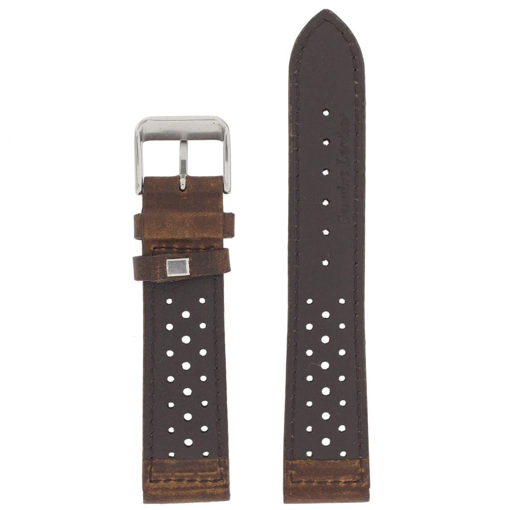 Dark Brown Leather Watch Band Mens TSA420   Rear