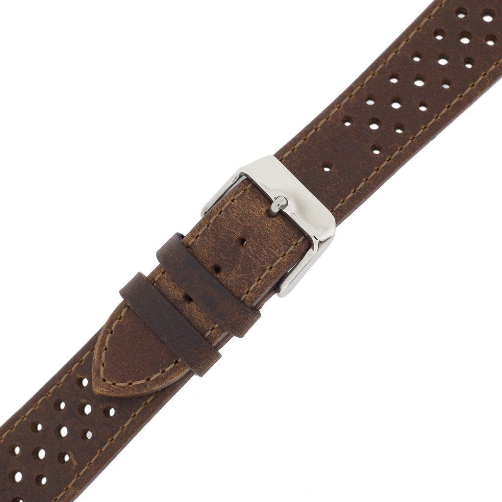 Strap Brown Leather Watch Band Mens TSA420