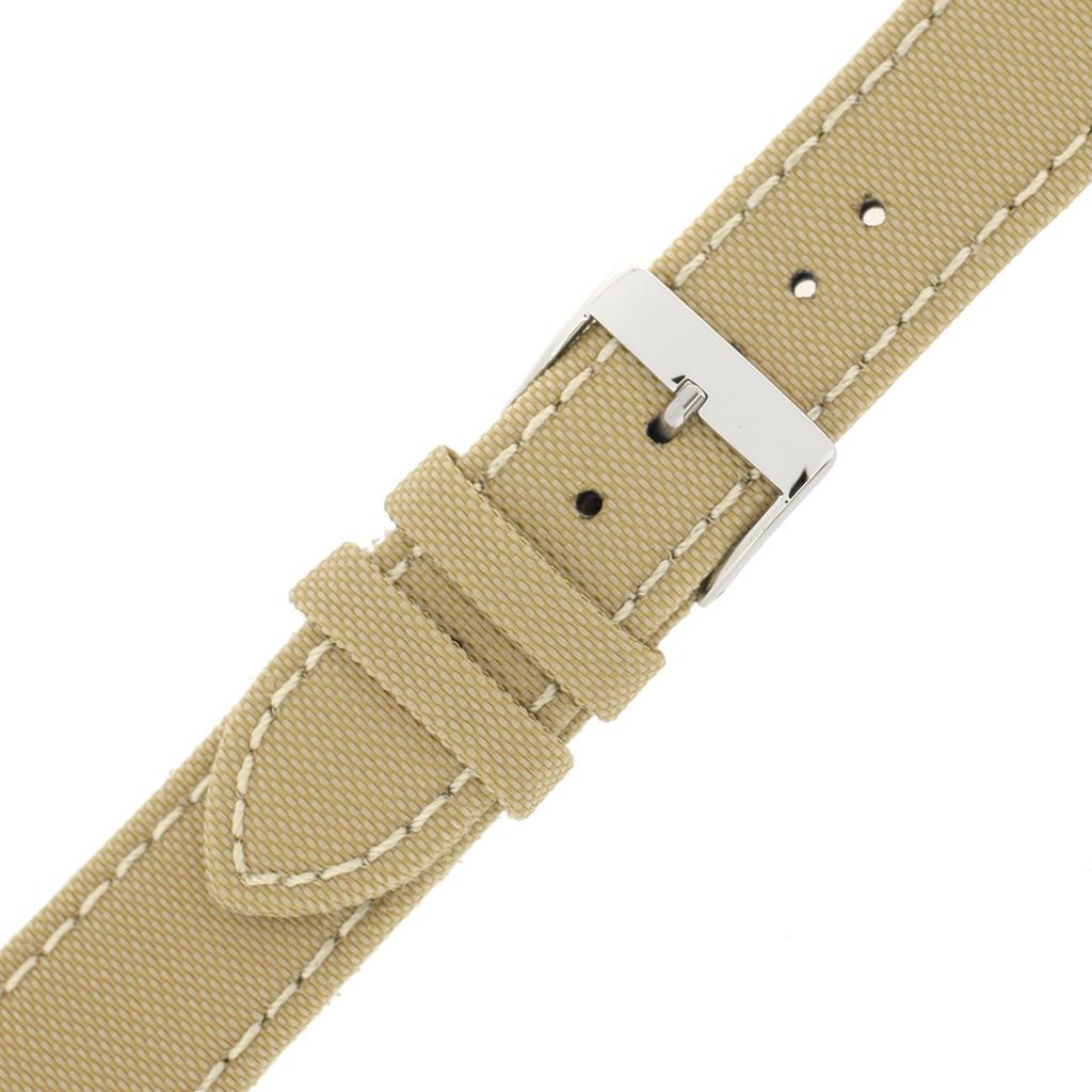 Tan Men's Canvas Watch Band | Modern Sport Watch Bands | TechSwiss LEA1220 | Buckle