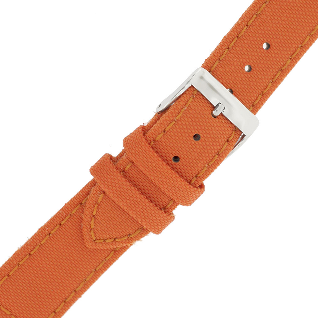 Orange Canvas Watch Band | Orange Water Resistant Strap  | TechSwiss LEA1230 | Buckle