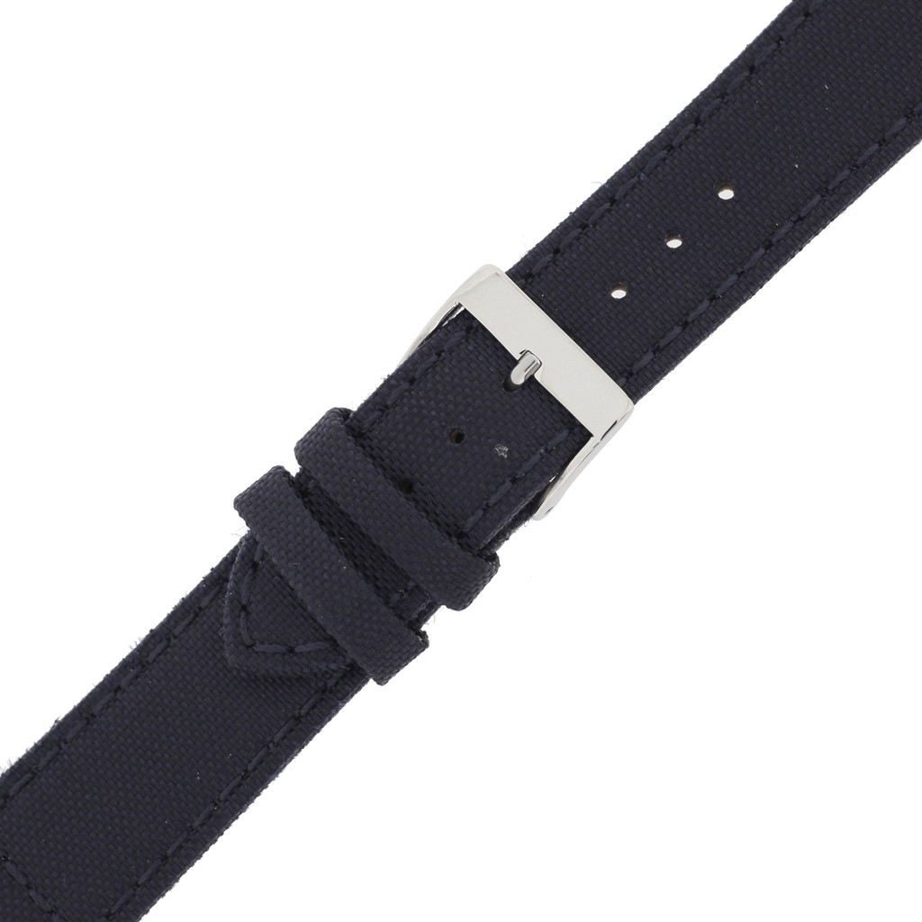 Blue Canvas Watch Band  Navy Water Resistant Watch Strap   TechSwiss LEA1240   Buckle