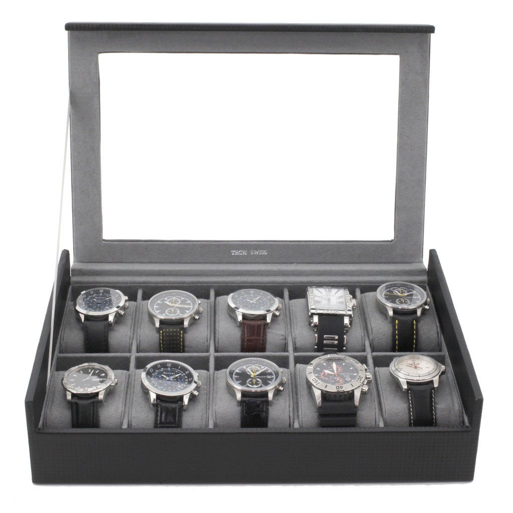 Carbon Fiber Watch Box | TechSwiss TS700CF | Front
