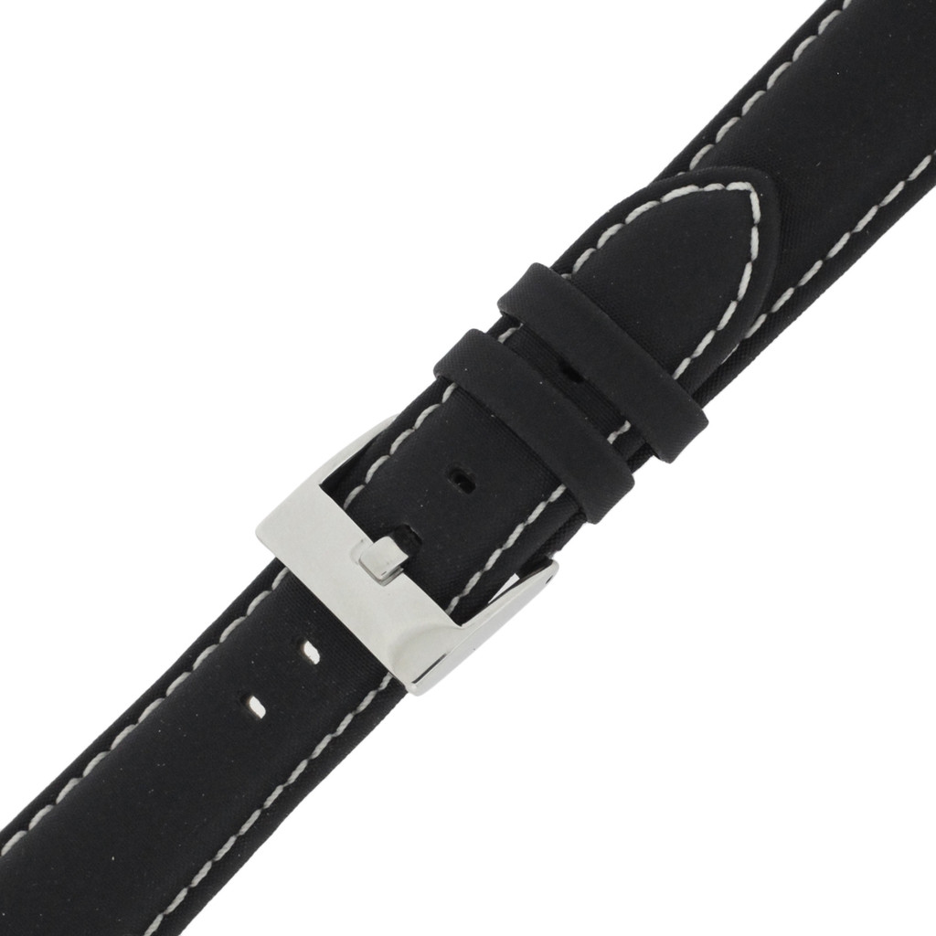 Buckled Nylon black Watch Band LEA622