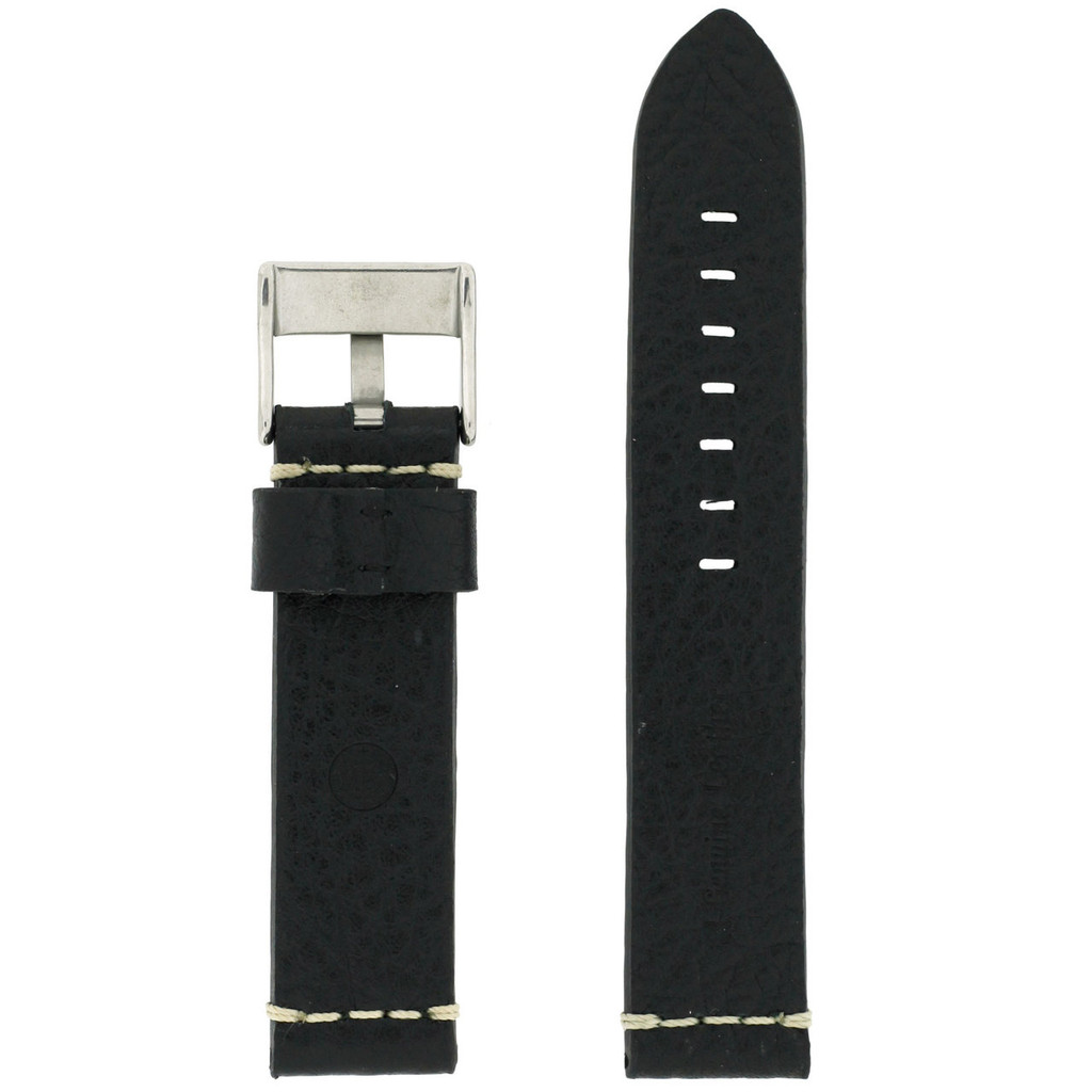 Black Watch Strap Thick | TechSwiss LEA1377-22SS | Back