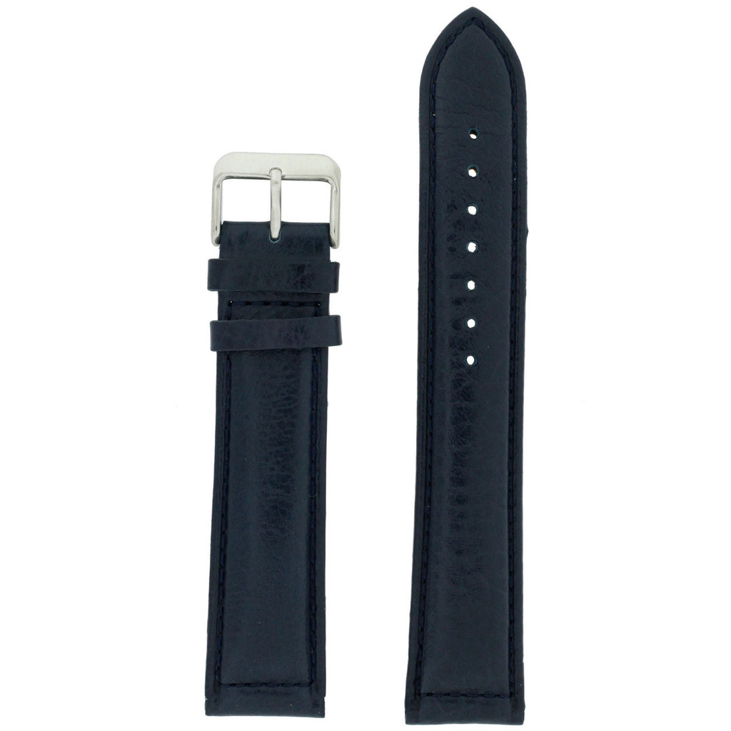 Navy Blue Extra Long Watch Band | TechSwiss LEA1473 | Front