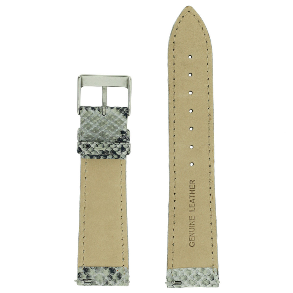 Gray Snake Watch Band Leather | TechSwiss LEA1124 | Inside