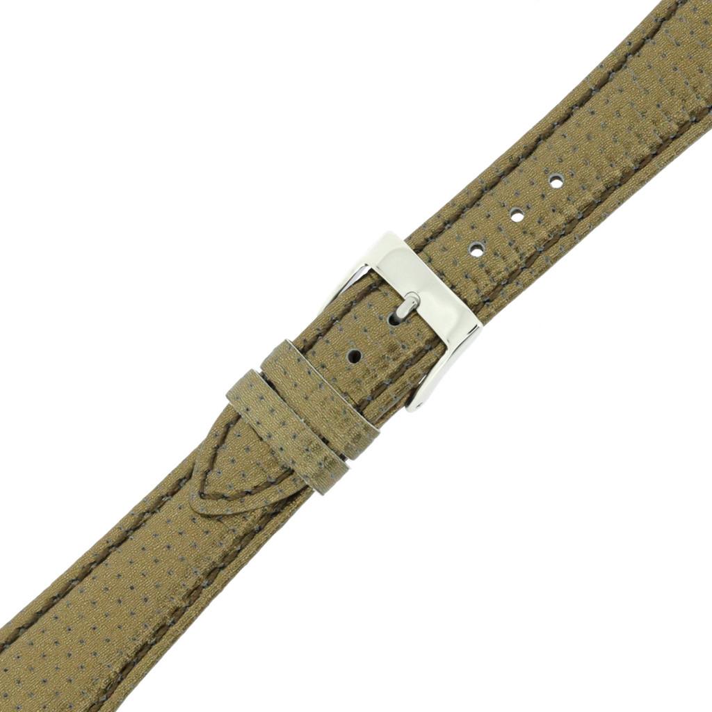 bronze Metallic Watch Band Leather | TechSwiss LEA379 | Buckled
