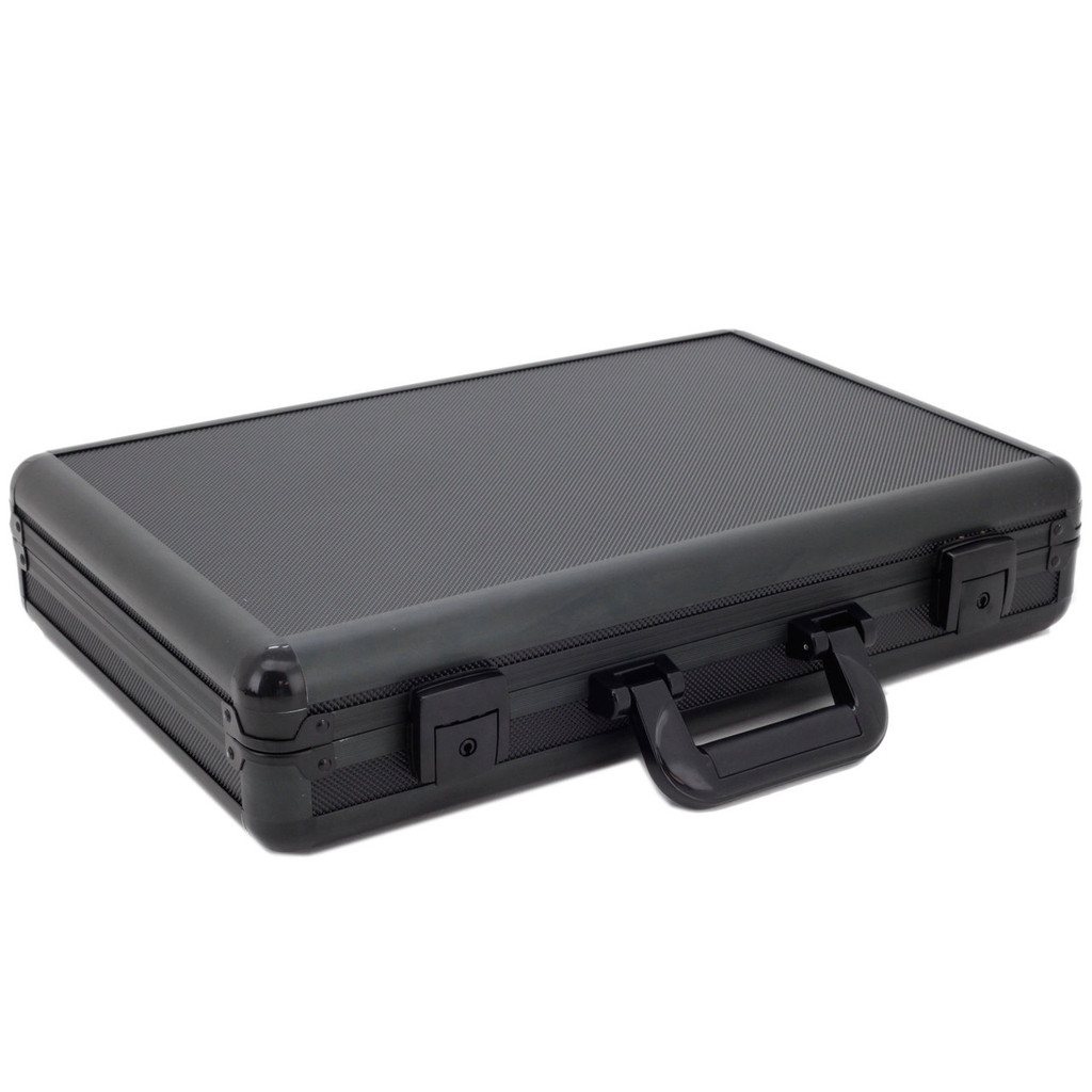 Aluminum Watch Case Black Briefcase Design For 24 Watches
