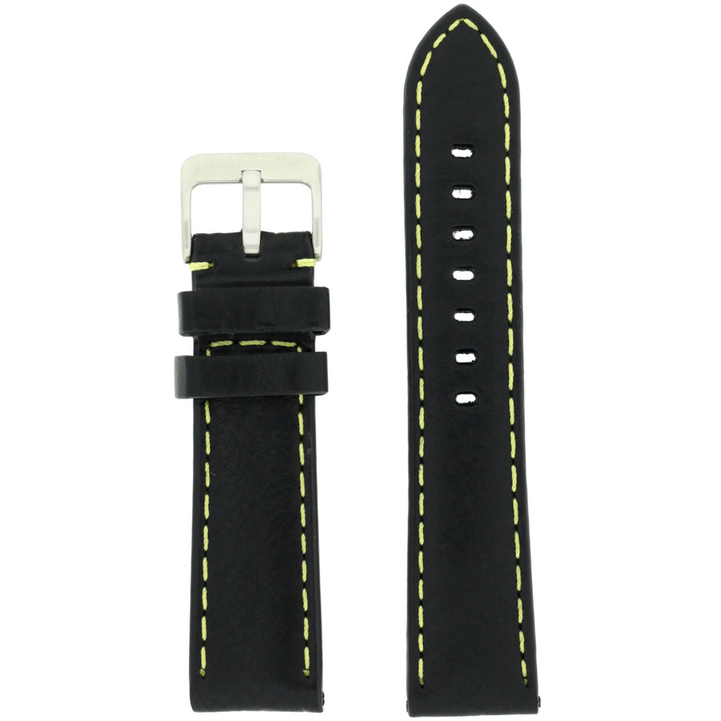 mENS Black Padded Watch Strap | TechSwiss LEA582| Back