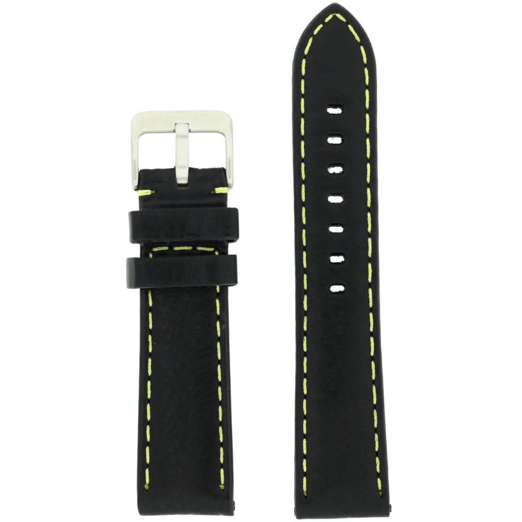 mENS Black Padded Watch Strap | TechSwiss LEA582| Back