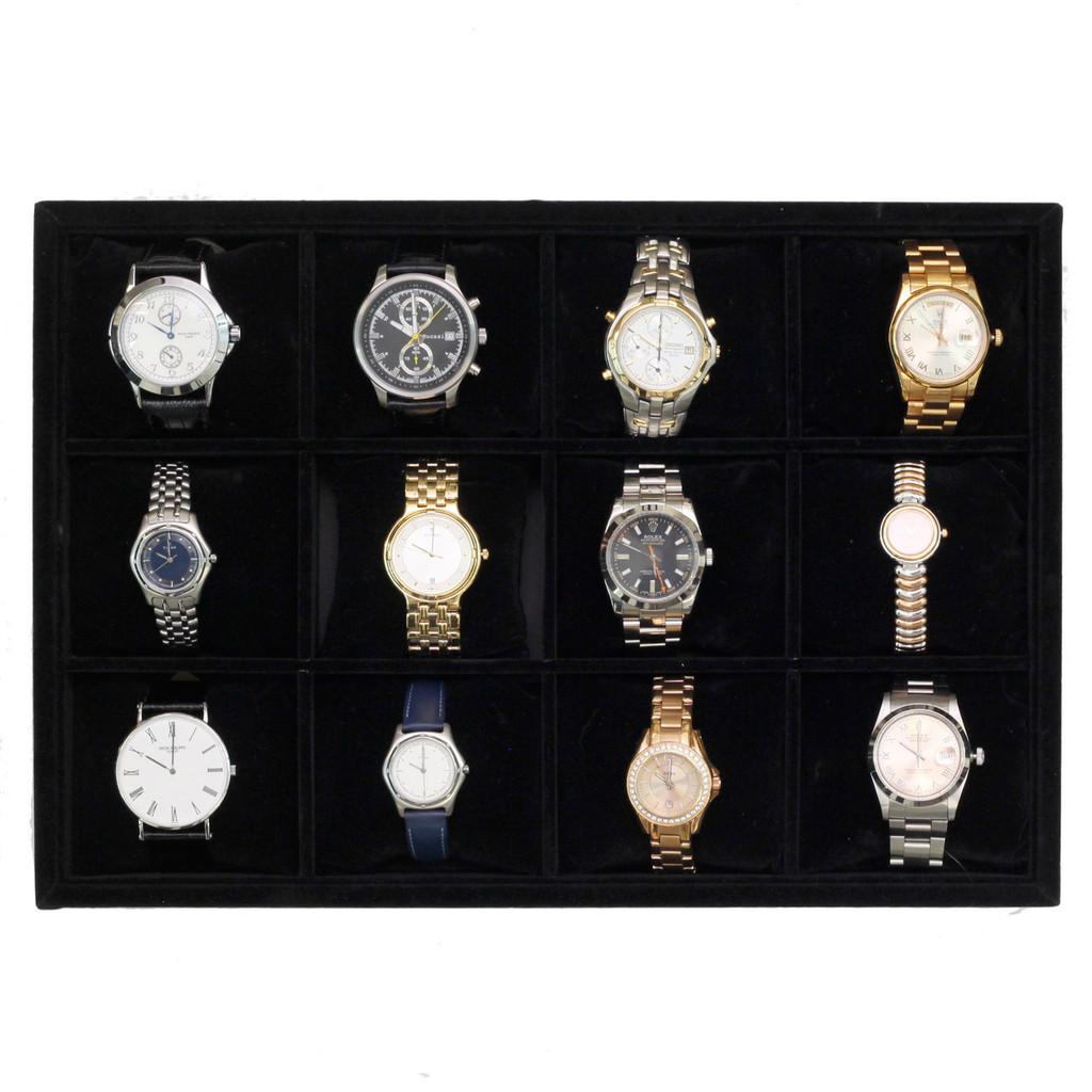 Watch Storage Tray   Wristwatch storage Tray for Dressers and Safes   Safe Storage for Watches   TechSwiss TR130