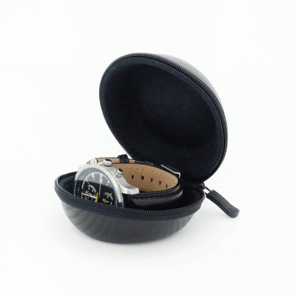 Single Watch Storage Case | TechSwiss | Wrist Watch Travel Case | Mens Travel Storage | Leather Watch Band Storage Case | Leather Watch Band Travel Case TechSwiss
