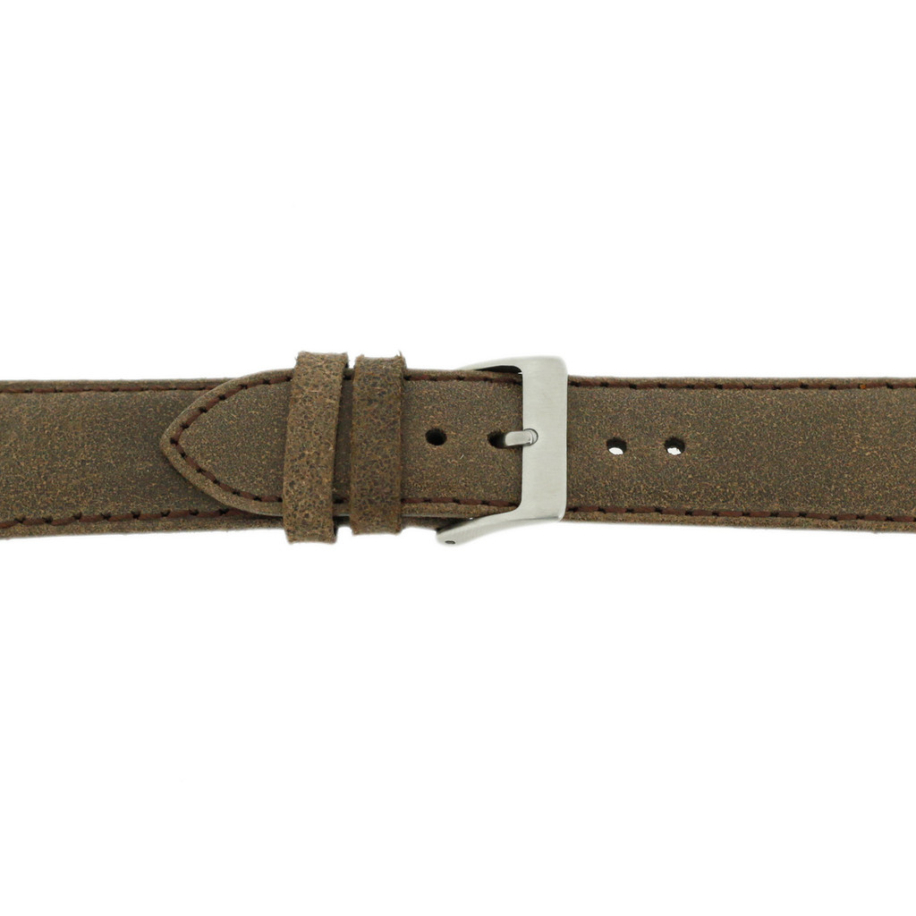 Brown Vintage Leather Watch Strap | Textured Brown Leather Watch Band | Distressed Brown Leather Watch Band | TechSwiss Brown Watch Strap LEA354 | Buckle