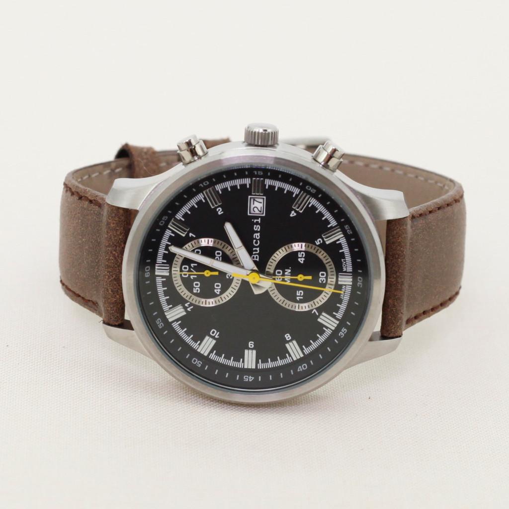 Brown Vintage Leather Watch Strap | Textured Brown Leather Watch Band | Distressed Brown Leather Watch Band | TechSwiss Brown Watch Strap LEA354 | Case