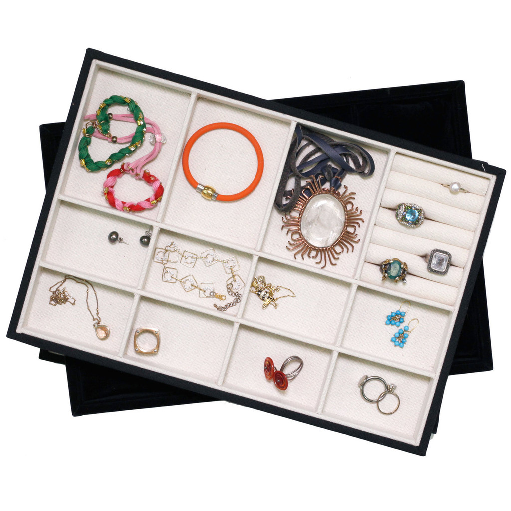 Jewelry Tray Organizer Stackable Canvas