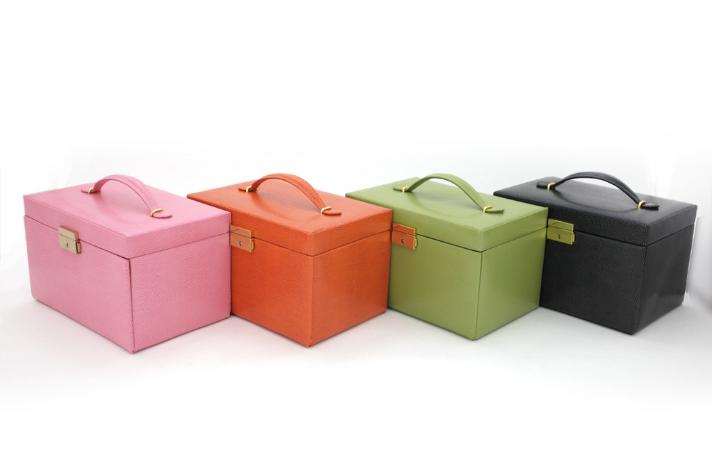 Lime Leather Jewelry Box | TechSwiss TS382LME | Colors