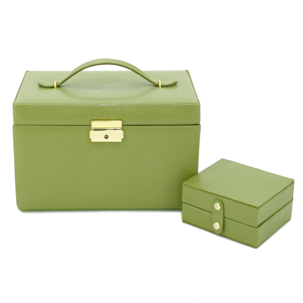 Lime Leather Jewelry Box | TechSwiss TS382LME | Travel Box