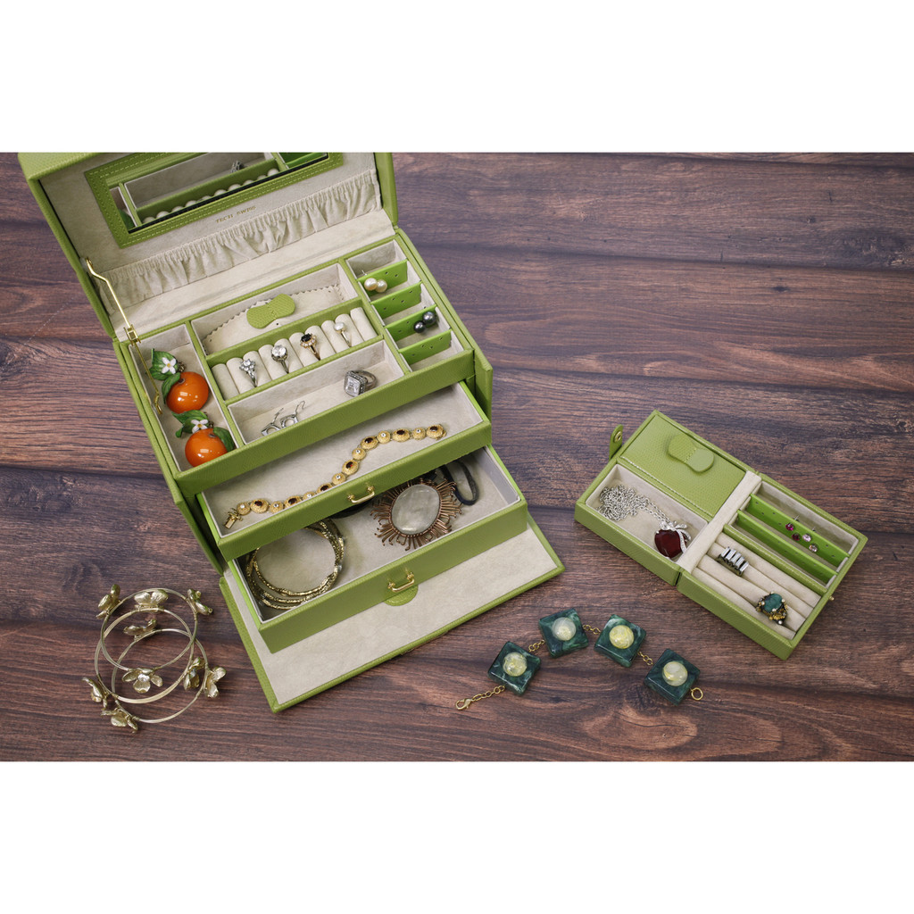 Lime Leather Jewelry Box | TechSwiss TS382LME | Image