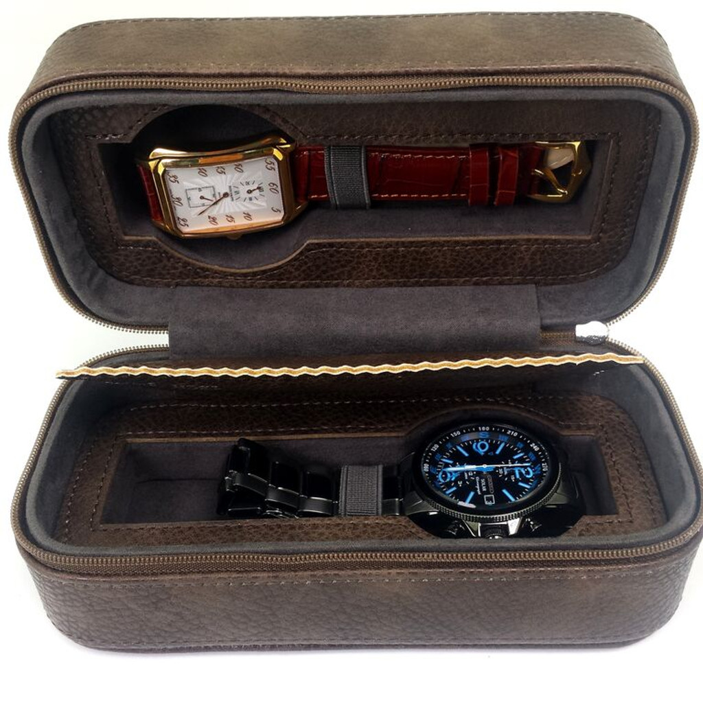Watch Case for 2 watches Brown 200 brown Main Picture