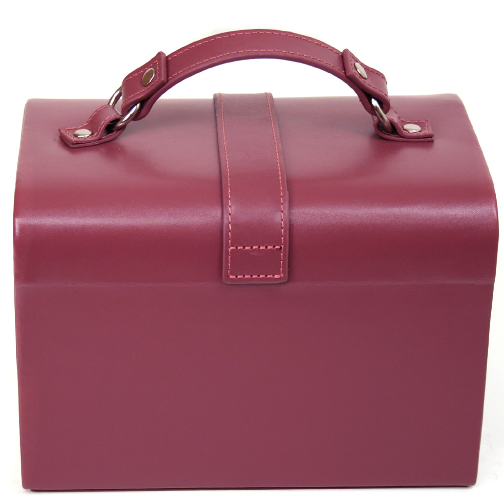 Leather Jewelry Box in Plum  | TechSwiss TS393BUR | Second
