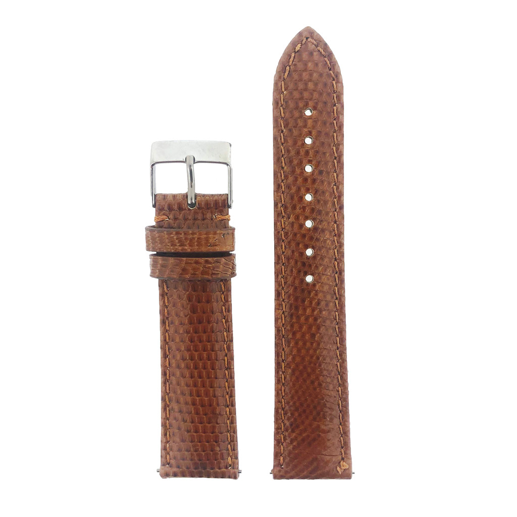 Brown Lizard Skin Watch Band | Genuine Exotic Grain Straps | TechSwiss LEA731 | Main
