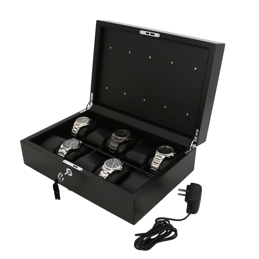 Charging Solar Watch box for 10 watches