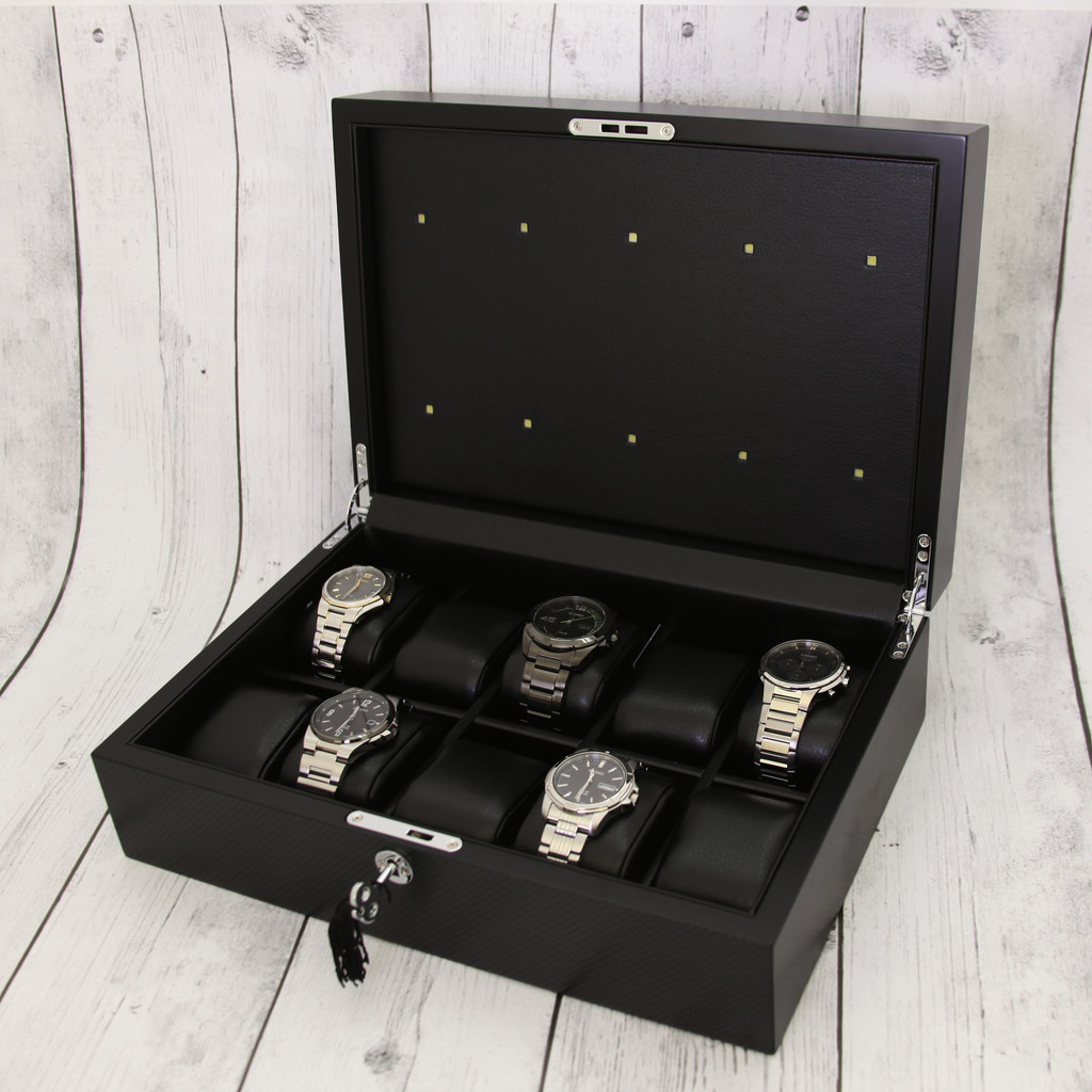 Solar charging 10 watch box open