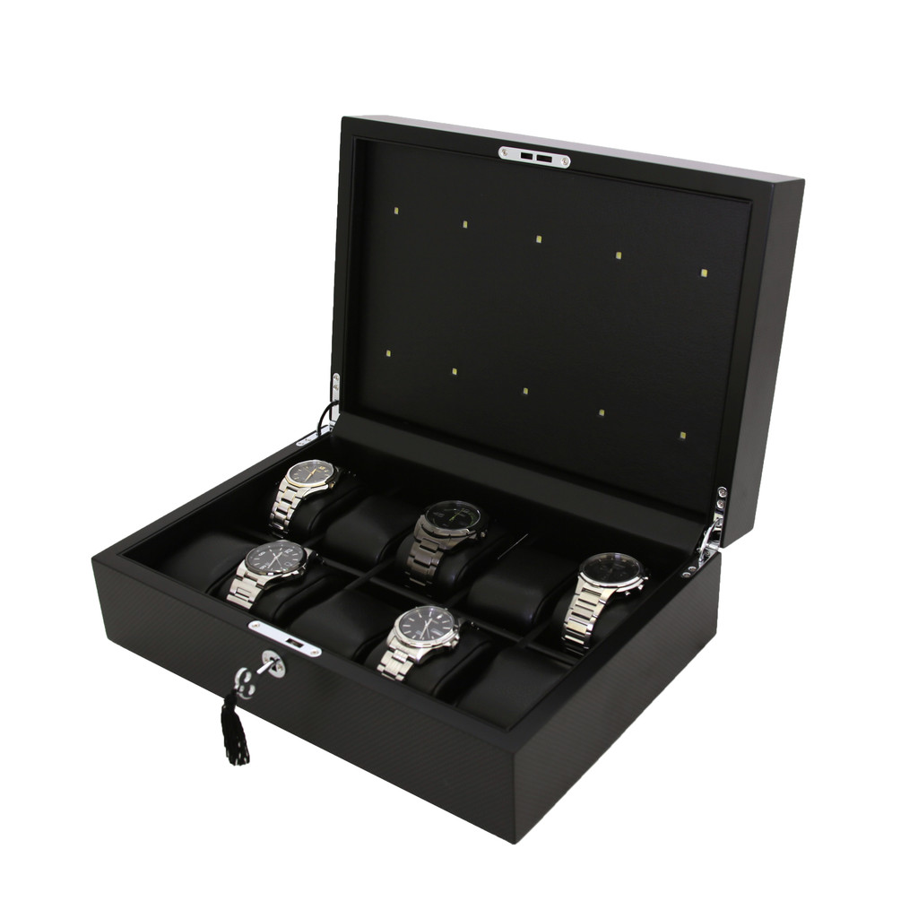 Light Watch Box for Charging 10 watches front