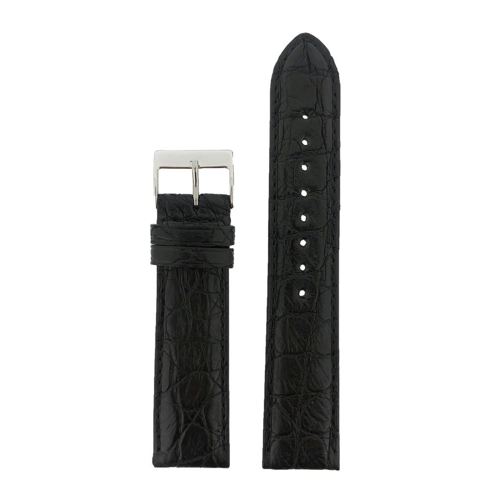 Crocodile Black Watch Band - Top