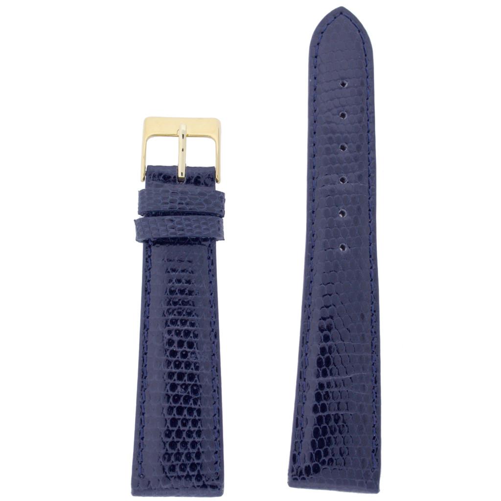 Blue Lizard Skin Watch Band | Genuine Exotic Grain Straps | TechSwiss LEA726 | Main